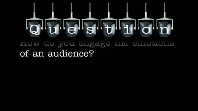 How do you engage the emotions of an audience?