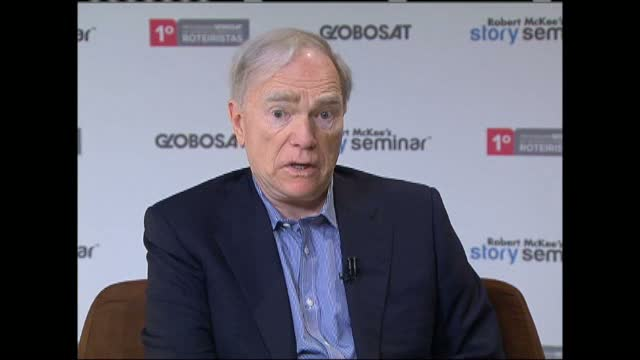 Robert McKee discusses Story with Globosat television in Brazil, Part 2.