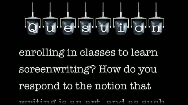 What does it mean to take a writing class?