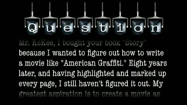 "How would one go about writing a movie like ""American Graffiti""?"