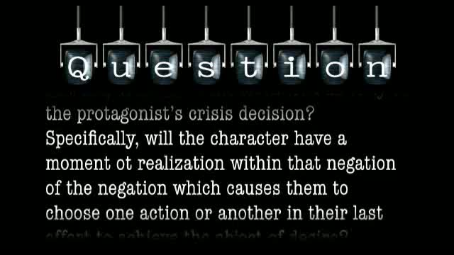 If the negation of the negation occurs in the last act, does the event often lead directly to the protagonist's crisis decision?