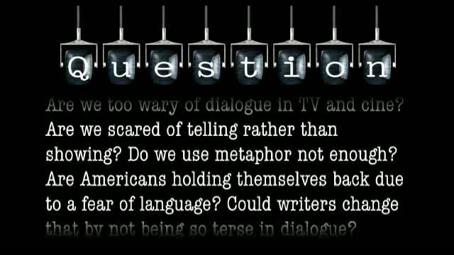 Are Americans holding themselves back due to fear of language? Can we as writers change this by not being so terse in dialogue?