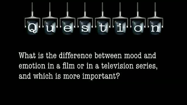 What is the difference between mood and emotion in a film or in a TV series, and which is more important?