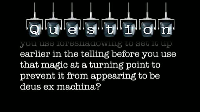 In a science fiction or fantasy setting, if there is a technology or magic that can do something that is impossible in the real world, how can you use that at a turning point without it appearing to be deus ex machina?