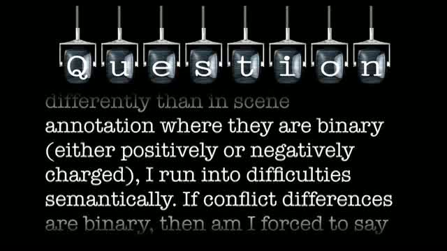 If conflict differences are binary, then am I forced to say that something like unfairness is negatively charged?